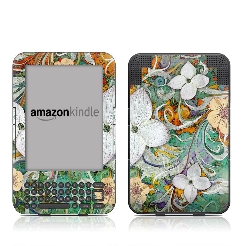 Sangria Flora Amazon Kindle Keyboard Skin