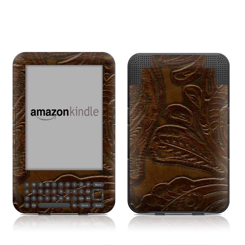 Saddle leather Amazon Kindle 3 Skin