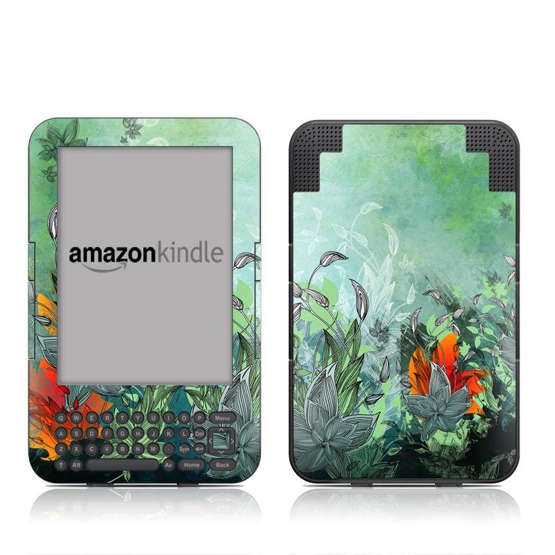 Sea Flora Amazon Kindle 3 Skin