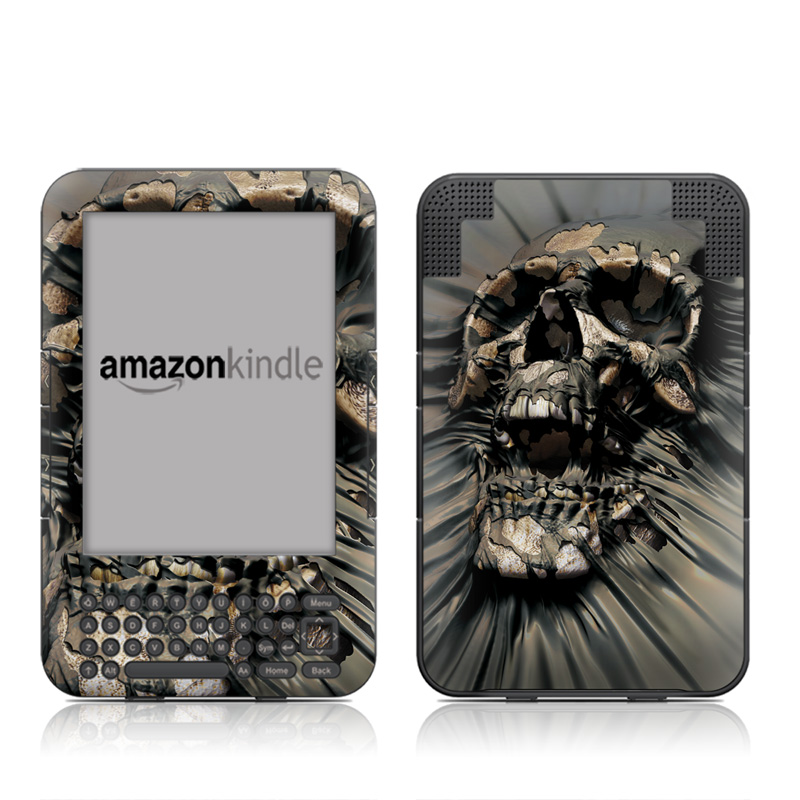 Skull Wrap Amazon Kindle Keyboard Skin