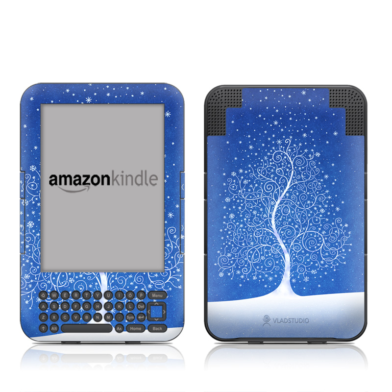 Snowflakes Are Born Amazon Kindle 3 Skin
