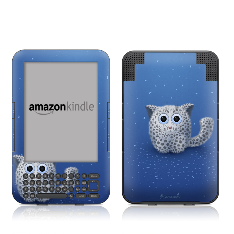 Snow Leopard Amazon Kindle 3 Skin