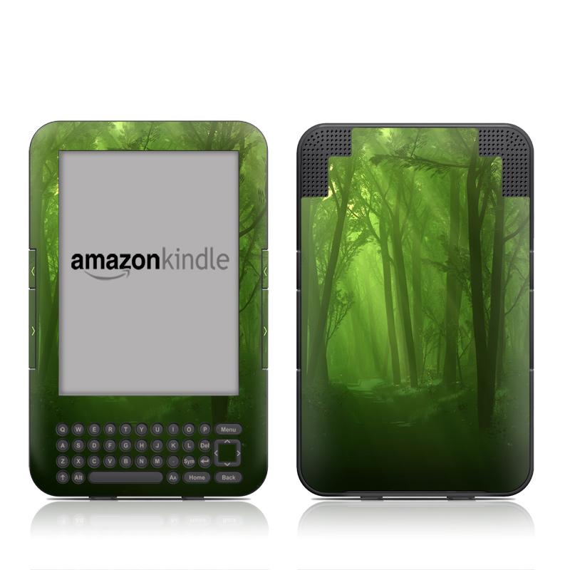 Spring Wood Amazon Kindle Keyboard Skin