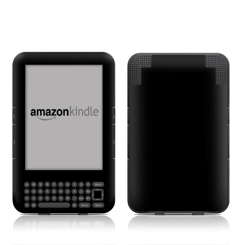 Solid State Black Amazon Kindle 3 Skin