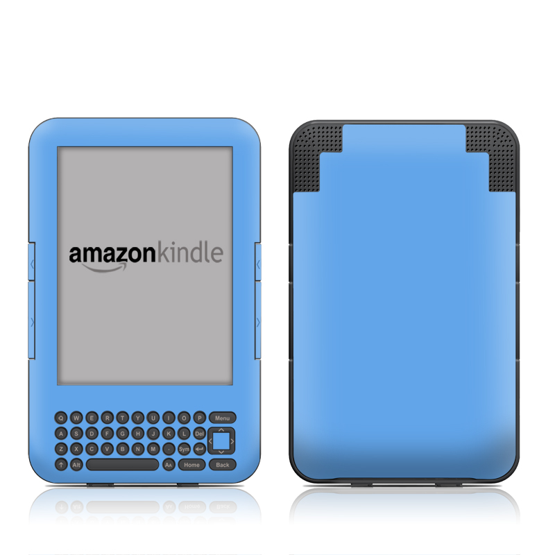 Solid State Blue Amazon Kindle Keyboard Skin