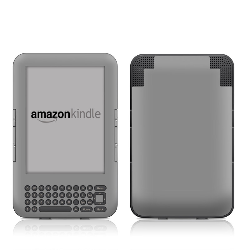 Solid State Grey Amazon Kindle Keyboard Skin