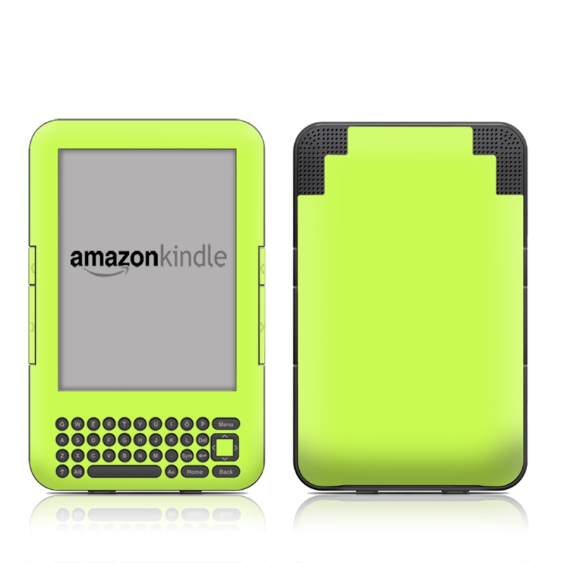 Solid State Lime Amazon Kindle 3 Skin