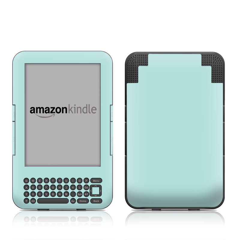 Amazon Kindle 3rd Gen Skin design of Green, Blue, Aqua, Turquoise, Teal, Azure, Text, Daytime, Yellow, Sky with blue colors