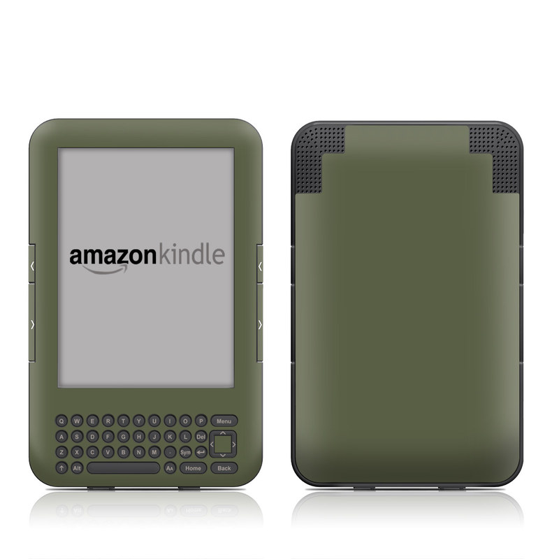 Solid State Olive Drab Amazon Kindle Keyboard Skin