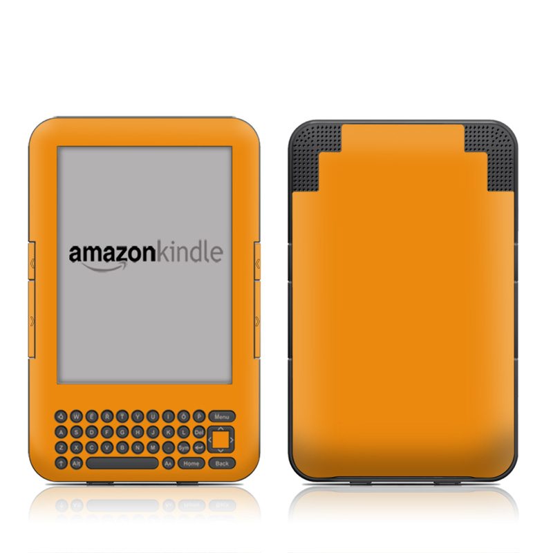 Solid State Orange Amazon Kindle Keyboard Skin