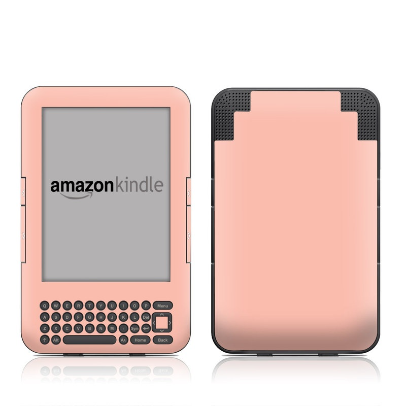 Amazon Kindle 3rd Gen Skin design of Orange, Pink, Peach, Brown, Red, Yellow, Material property, Font, Beige with pink colors
