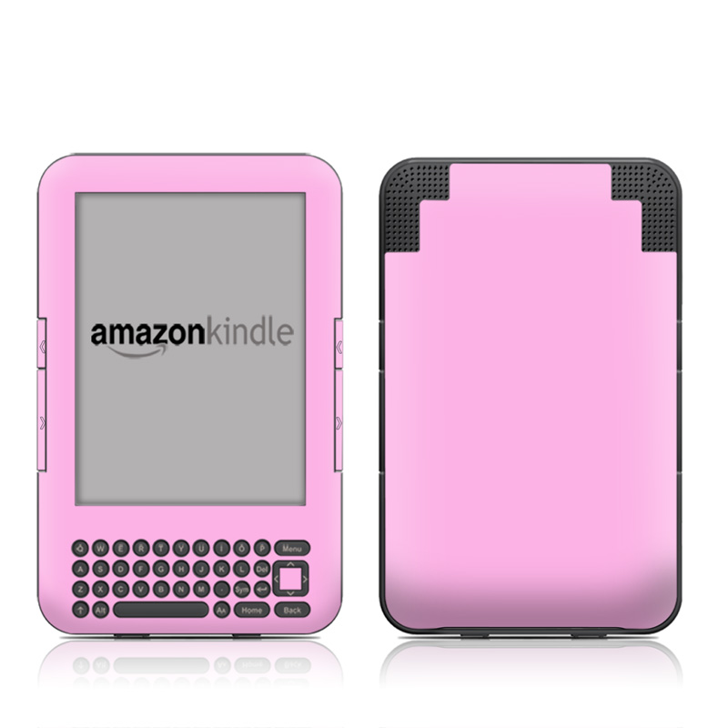 Amazon Kindle 3rd Gen Skin design of Pink, Violet, Purple, Red, Magenta, Lilac, Sky, Material property, Peach with pink colors