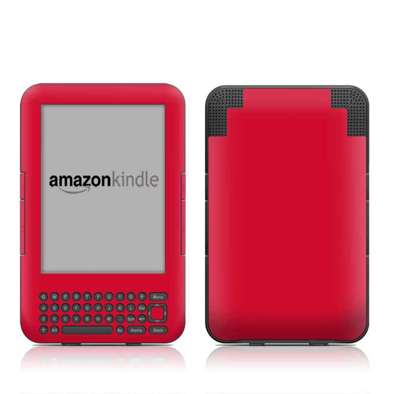 Solid State Red Amazon Kindle Keyboard Skin