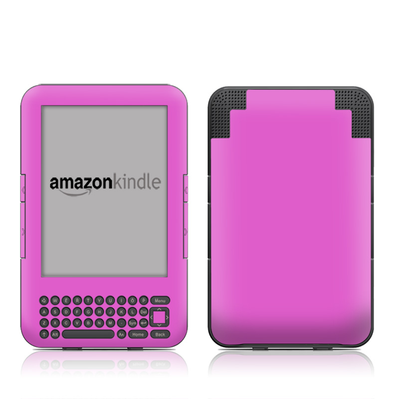 Solid State Vibrant Pink Amazon Kindle 3 Skin