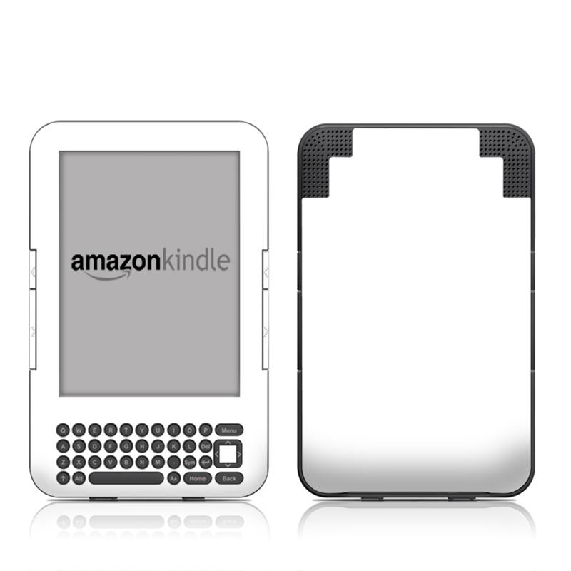 Solid State White Amazon Kindle Keyboard Skin