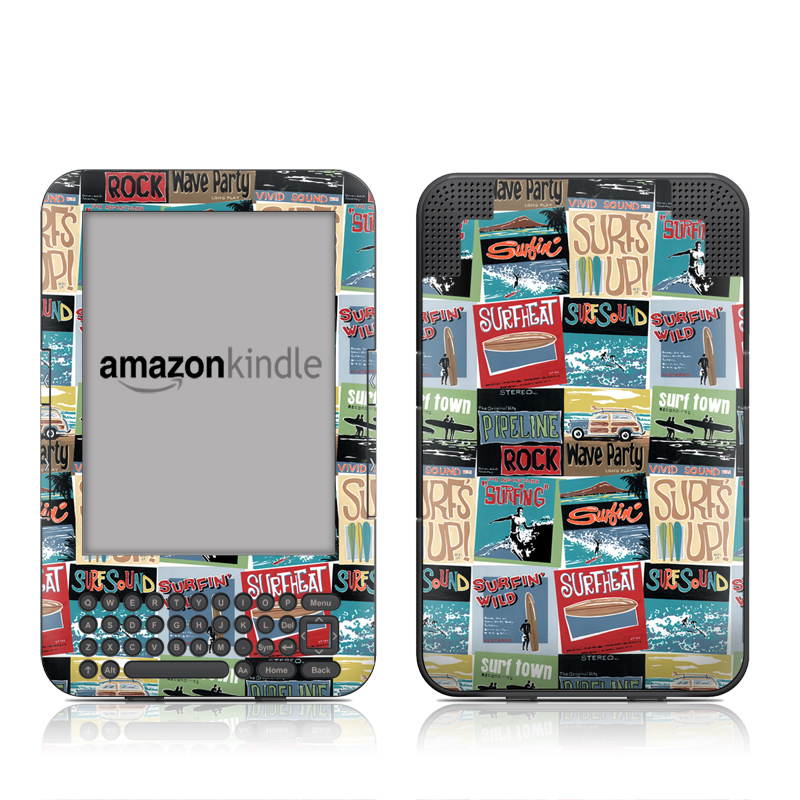 Surf Sounds Amazon Kindle Keyboard Skin