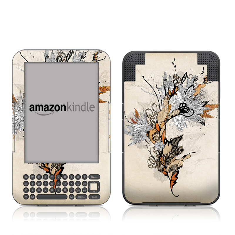 Sweet Floral Amazon Kindle 3 Skin
