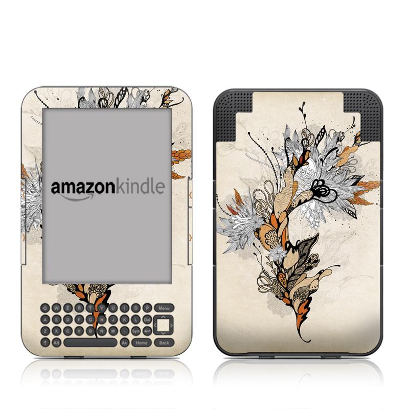 Sweet Floral Amazon Kindle 3 Skin