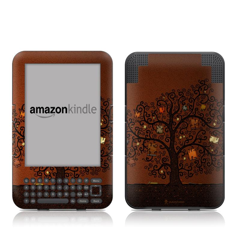 Tree Of Books Amazon Kindle 3 Skin