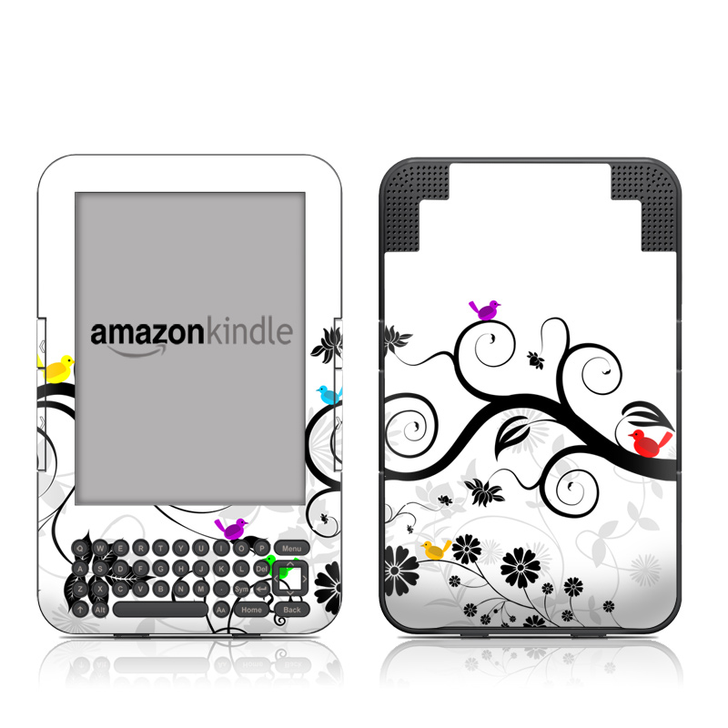 Tweet Light Amazon Kindle Keyboard Skin