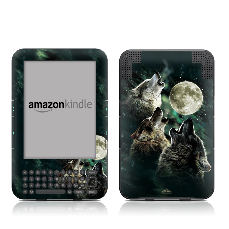 Three Wolf Moon Amazon Kindle 3 Skin