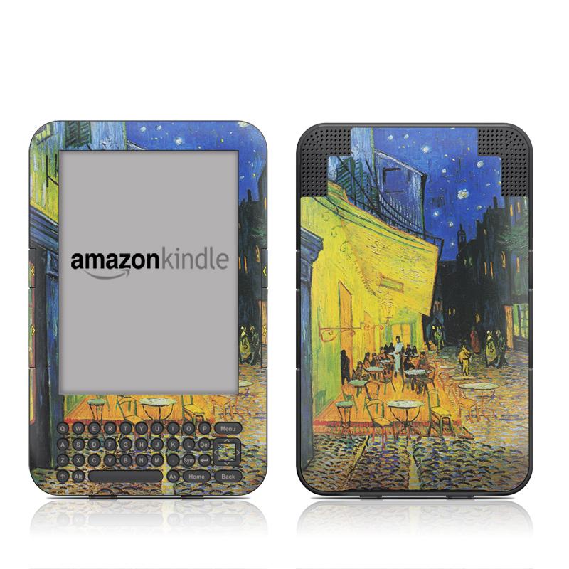 Cafe Terrace At Night Amazon Kindle Keyboard Skin
