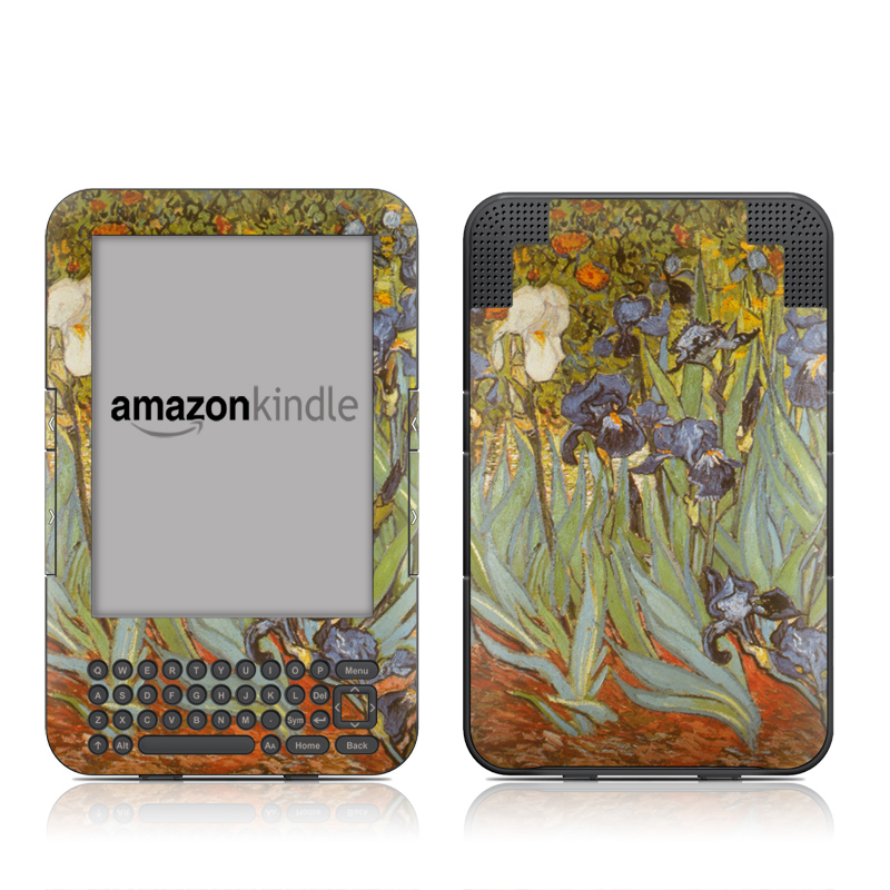 Irises Amazon Kindle Keyboard Skin
