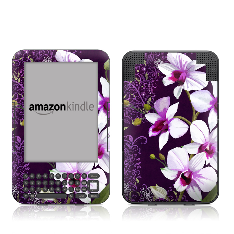 Violet Worlds Amazon Kindle Keyboard Skin