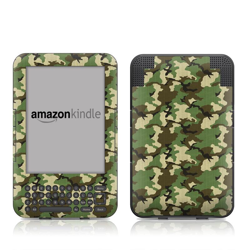 Woodland Camo Amazon Kindle Keyboard Skin