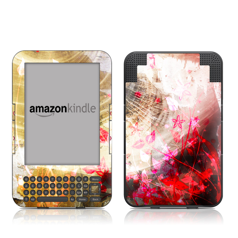 Woodflower Amazon Kindle 3 Skin