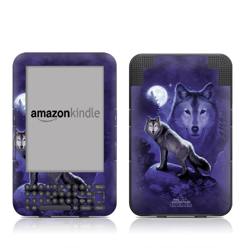 Wolf Amazon Kindle Keyboard Skin