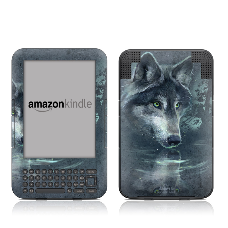 Wolf Reflection Amazon Kindle Keyboard Skin