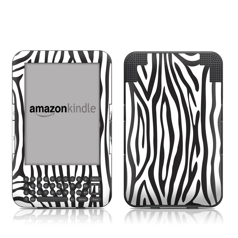 Zebra Stripes Amazon Kindle Keyboard Skin