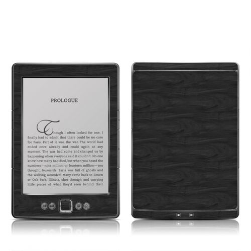 Black Woodgrain Amazon Kindle 4 Skin
