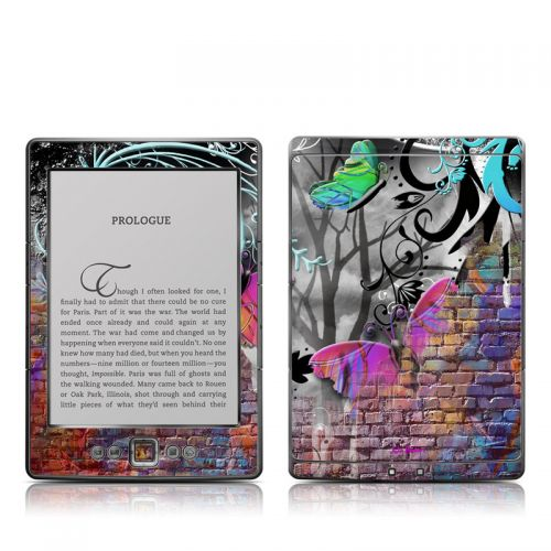 Butterfly Wall Amazon Kindle 4 Skin