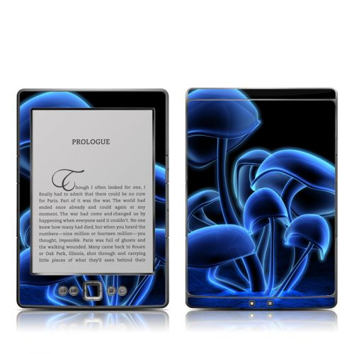 Fluorescence Blue Amazon Kindle 4 Skin