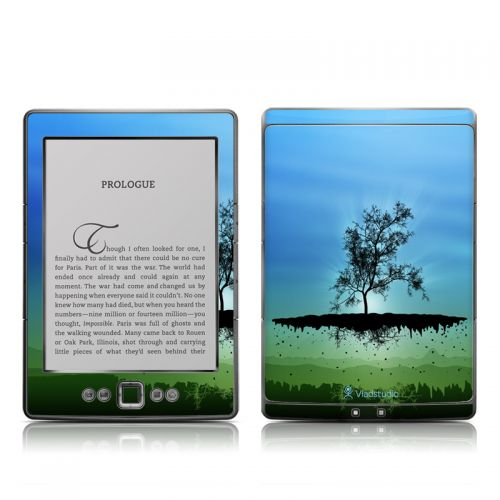 Flying Tree Blue Amazon Kindle 4 Skin