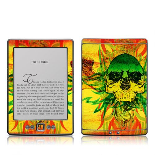 Hot Tribal Skull Amazon Kindle 4 Skin