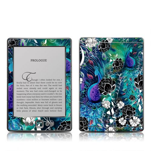 Peacock Garden Amazon Kindle 4 Skin