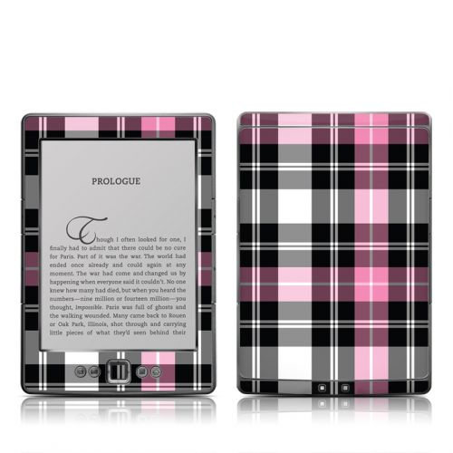 Pink Plaid Amazon Kindle 4 Skin