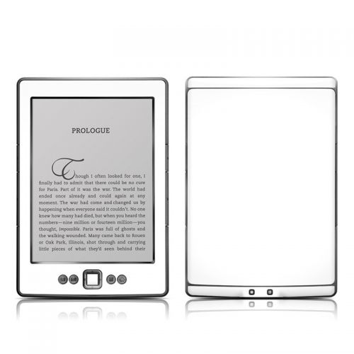 Solid State White Amazon Kindle 4 Skin