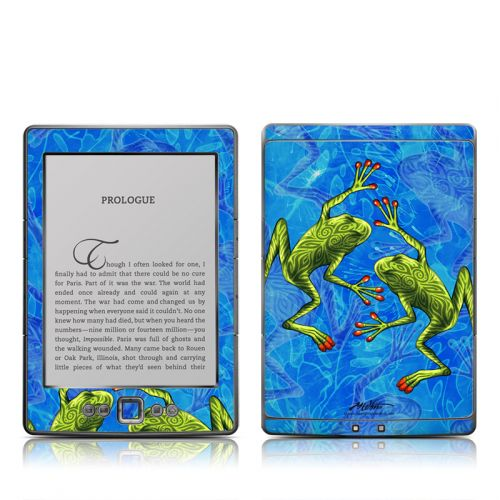 Tiger Frogs Amazon Kindle 4 Skin