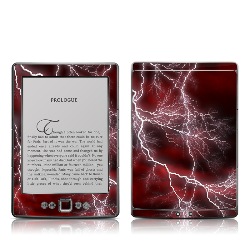 Apocalypse Red Amazon Kindle 4 Skin
