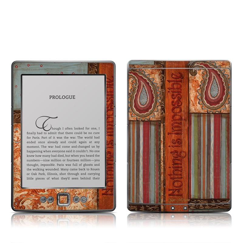 Be Inspired Amazon Kindle 4 Skin