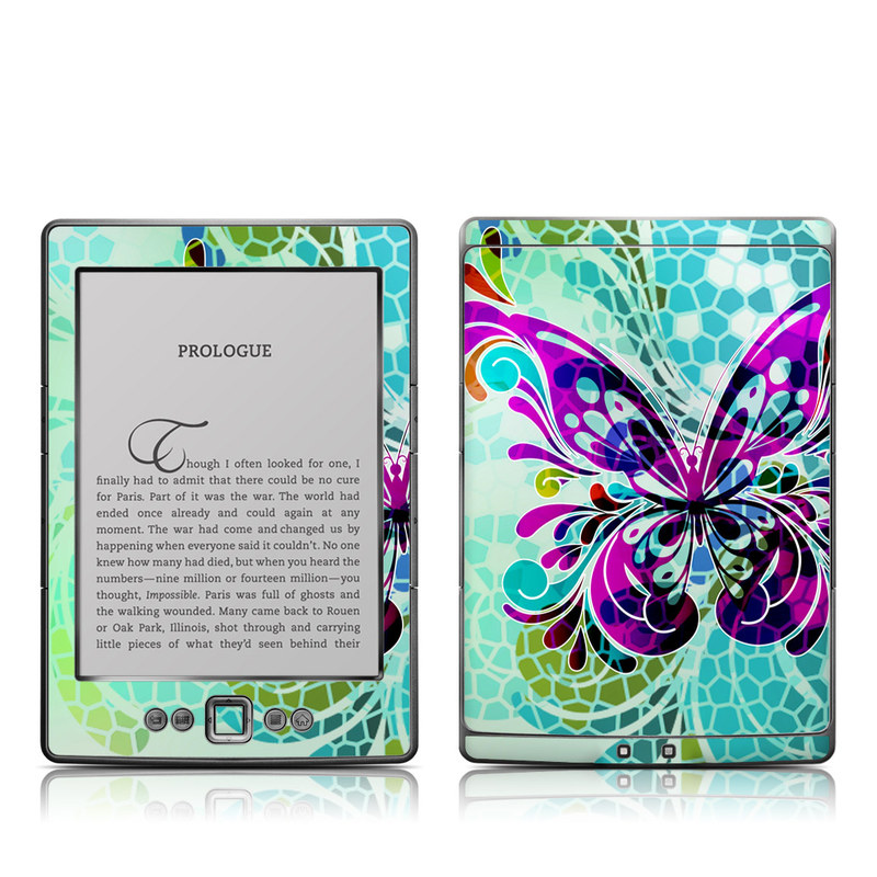 Butterfly Glass Amazon Kindle 4 Skin
