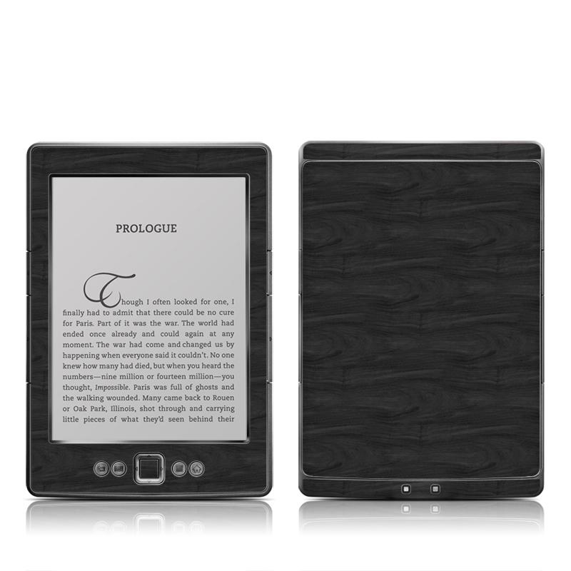 Black Woodgrain Amazon Kindle 4 Skin