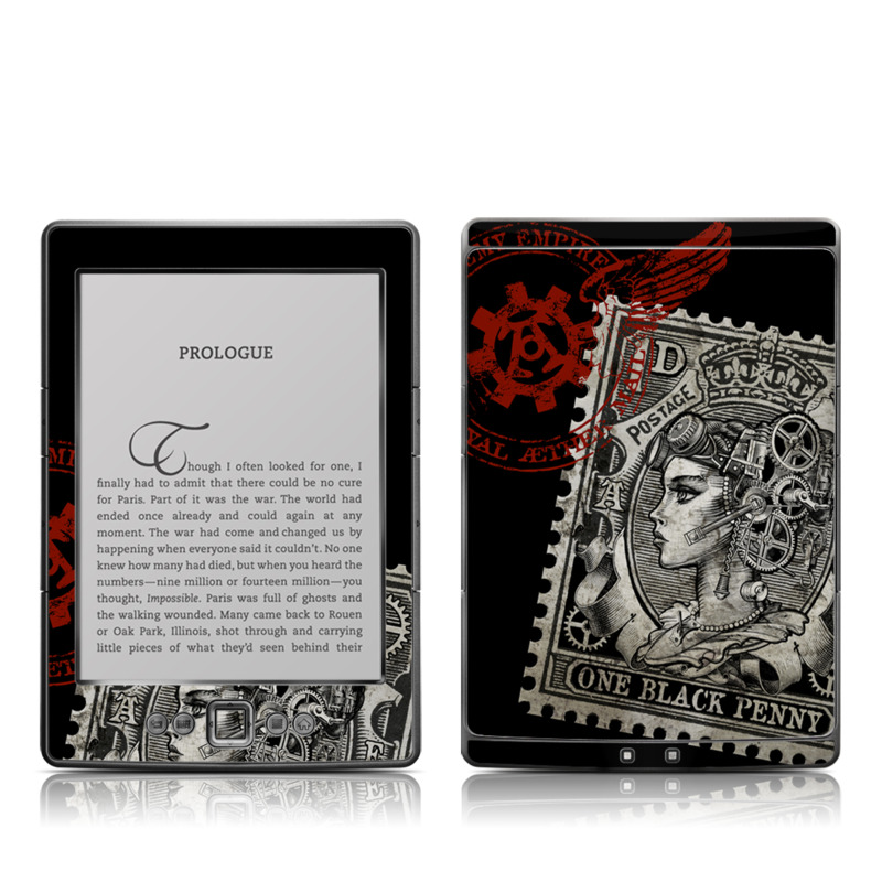Black Penny Amazon Kindle 4 Skin