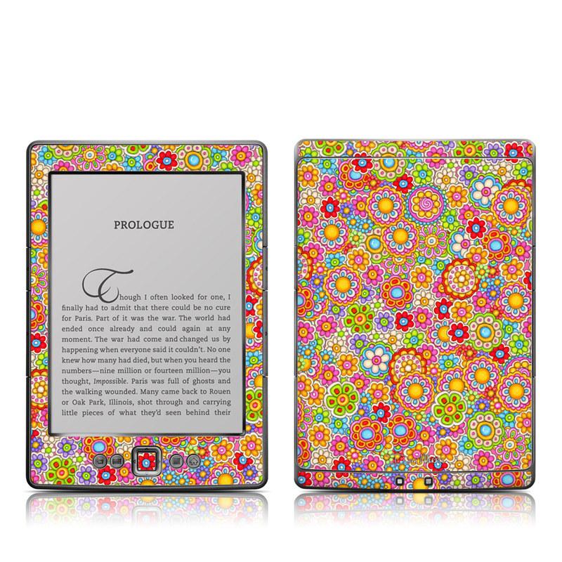 Bright Ditzy Amazon Kindle 4 Skin