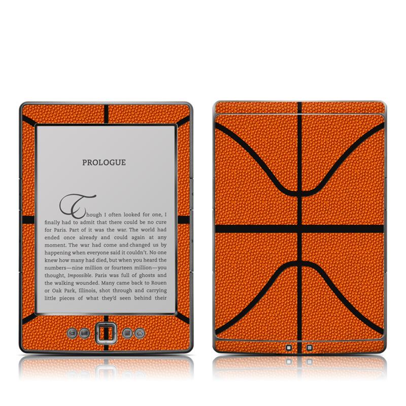 Amazon Kindle 4th Gen Skin design of Orange, Basketball, Line, Pattern, Sport venue, Brown, Yellow, Design, Net, Team sport with orange, black colors