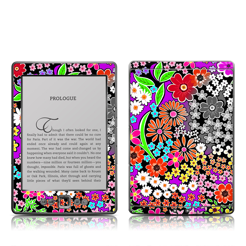 A Burst of Color Amazon Kindle 4 Skin